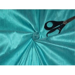 "100% PURE SILK DUPIONI FABRIC PASTEL BLUE 54"" WITH SLUBS*"