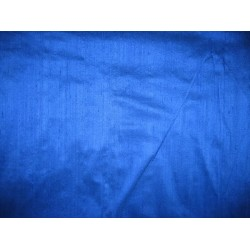 100% SILK DUPIONI FABRIC ROYAL BLUE (BY THE YARD)~with slubs