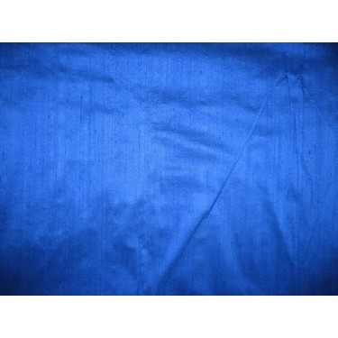 100% SILK DUPIONI FABRIC ROYAL BLUE (BY THE YARD)~with slubsMM2[3]