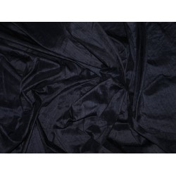 "100% Pure SILK Dupioni FABRIC Navy Blue 54"" with slubs"