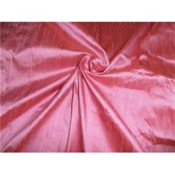"100% PURE SILK DUPIONI FABRIC PARADISE PINK 44"" WITH SLUBS*"