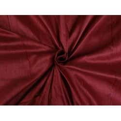 "100% PURE SILK DUPIONI FABRIC indian RED 54"" WITH SLUBS*"