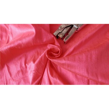 "100% PURE SILK DUPIONI FABRIC  PINK 44"" WITH SLUBS*"