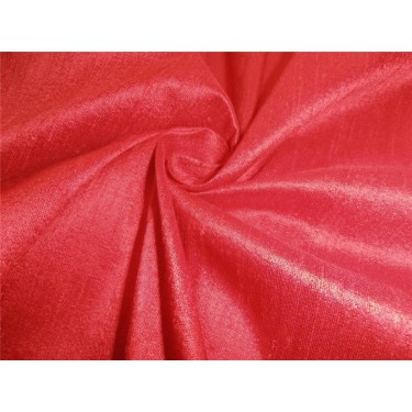 "100% PURE SILK DUPIONI FABRIC BLOOD RED 54"" WITH SLUBS*"