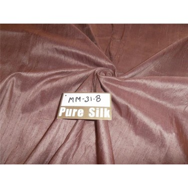 "100% PURE SILK DUPIONI FABRIC ONION PINK 54"" WITH SLUBS"