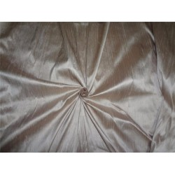 "100% PURE SILK DUPIONI FABRIC DARK CREAM COLOR 54"" WITH SLUBS*"