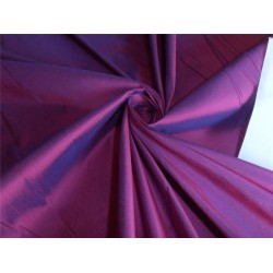 "100% PURE SILK DUPIONI FABRIC PINK X BLUE COLOR 110"" WITHOUT SLUBS*"