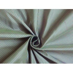 "SILK DUPIONI FABRIC  54"" wide peachy beige/green black stripes* sold by the yard"
