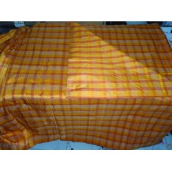 "orange / gold  colour dupioni plaids 44""**"