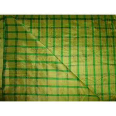 "yellow/green  colour dupioni plaids 44""*"