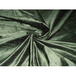 "SILK Dupioni FABRIC fern green/forest green 54"" with slubs*"