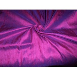 "100% PURE SILK DUPIONI FABRIC eggplant x red  COLOR 54"" WITH SLUBS*"