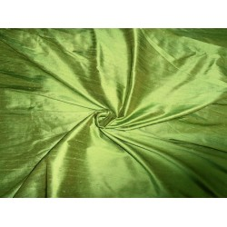 "100% Pure SILK Dupioni FABRIC Grass green 54"" with slubs*"