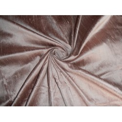 "100% pure silk dupioni fabric saint martin brown  54"" with slubs"