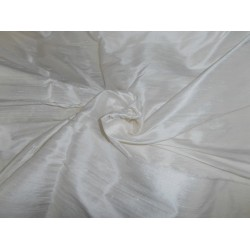 100% SILK Classic White Indian silk dupioni 108 inch wide/ 274 CMS WITH SLUBS