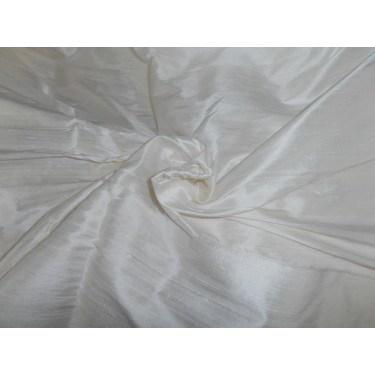 """60"""" wide SILK DUPIONI FABRIC WHITE (BY THE YARD)~with slubs sold by the yard"""