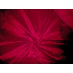 "bright indian red Indian silk dupioni 44""~with slubs"