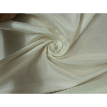"26 mm Pure Silk china dupion fabric 44""[ivory colour] sold by the yard"
