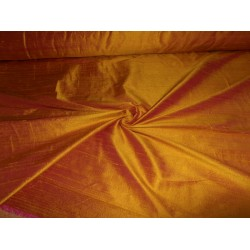 "100% Pure SILK Dupioni FABRIC ""Burning Sun"" 54"" with slubs*"