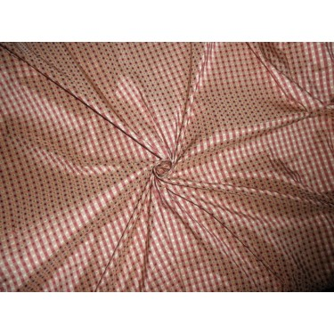 "SILK Dupioni FABRIC with dobby design/ wine/ pale gold TAFCJ6 54"" wide sold by the yard"