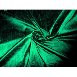"100% Pure SILK Dupioni FABRIC nice Emerald green 54"" with slubs*"
