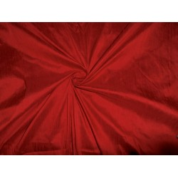 "deep red colour dupioni 60"" with slubs -silk fabric"