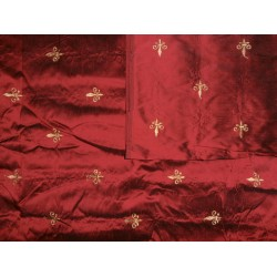 "54"" wide silk dupioni embroidery # 54wsdemb"