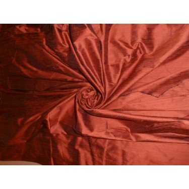 "Hawaiian Rust silk dupioni 54""~with slubs"