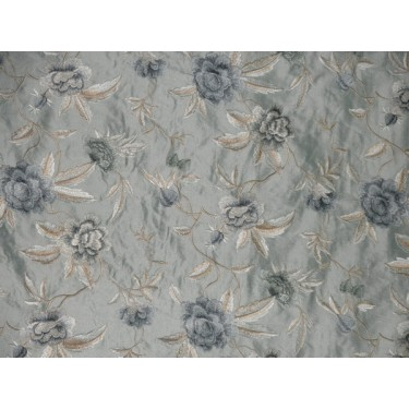 """SILK Dupioni embroidery 54""""W-icy blueish green DUPE44"""