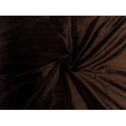 "100% Pure SILK Dupioni FABRIC chocolate brown  54"" with slubs*MM25[5]"