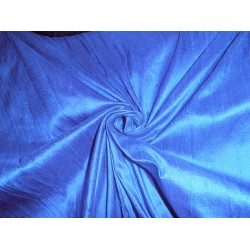 "100% Pure Silk Dupioni Fabric Bright Blue 54"" with Slubs"