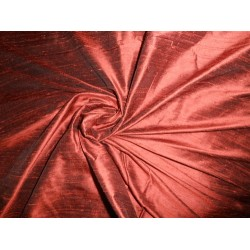 "SILK Dupioni FABRIC dark rust x black 54"" with slubs**"