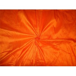 "100% PURE SILK DUPIONI FABRIC BRIGHT ORANGE 54""WITH SLUBS*"