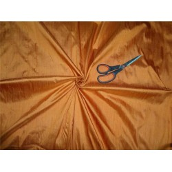 "100% PURE SILK DUPIONI FABRIC DEEP MARINE ORANGE 54"" WITH SLUBS*"