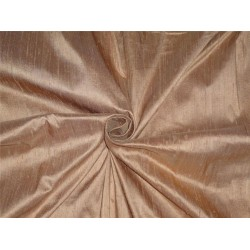 "100% PURE SILK DUPIONI FABRIC DEEP SALMON 54"" WITH SLUBS*"