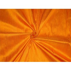 "100% PURE SILK DUPIONI FABRIC MANGO YELLOW 54""WITH SLUBS*"