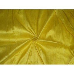 "100% PURE SILK DUPIONI FABRIC BRIGHT PASTEL YELLOW 54""WITH SLUBS*"