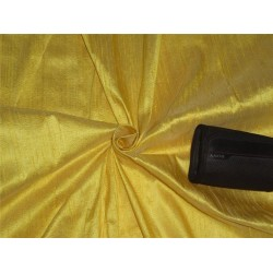 "100% PURE SILK DUPIONI FABRIC DULL SUNSHINE YELLOW 54"" WITH SLUBS*"