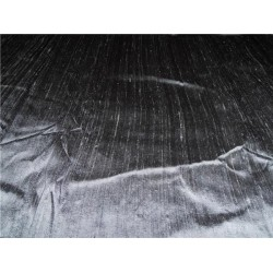 "100% PURE SILK DUPIONI FABRIC SLATE GREY 54"" WITH SLUBS*"