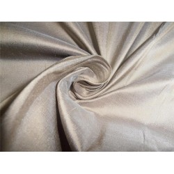 "100% PURE SILK DUPIONI FABRIC TAUPE BROWN 54"" WITH SLUBS"