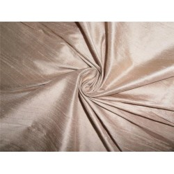 "100% PURE SILK DUPIONI FABRIC DUSTY BEIGE 54"" WITH SLUBS*"