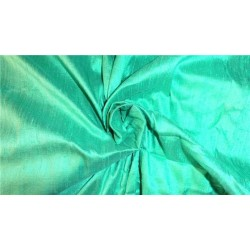 "100% PURE SILK DUPIONI FABRIC SEAFOAM 44"" WITH SLUBS*"
