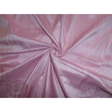 "100% PURE SILK DUPIONI FABRIC BABY PINK 44"" WITH SLUBS"