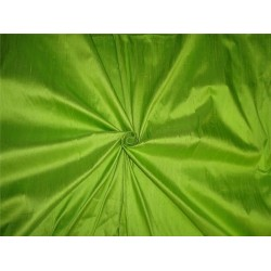 "100% PURE SILK DUPIONI FABRIC BRIGHT LIME GREEN 54"" WITH SLUBS*"