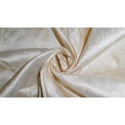 "100% PURE SILK DUPIONI FABRIC CREAM X IVORY 54"" WITH SLUBS"