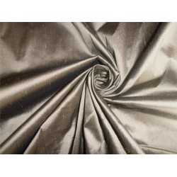 "100% PURE SILK DUPIONI FABRIC DULL GOLD X BLACK COLOR 54"" WITHOUT SLUBS*"