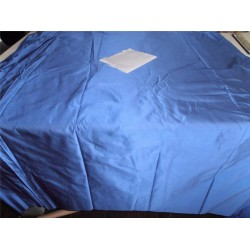 "100% PURE SILK DUPIONI FABRIC ELECTRIC BLUE COLOR 54"" WITHOUT SLUBS"