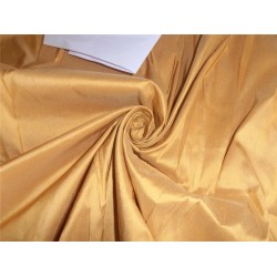 "100% PURE SILK DUPIONI FABRIC GOLD COLOR 48"" WITHOUT SLUBS"