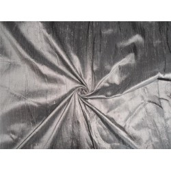 "100% PURE SILK DUPIONI FABRIC GREY 54"" WITH SLUBS*"