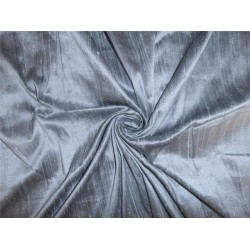 "100% pure silk dupioni fabric grey x black 54"" with slubs  MM17[2]"